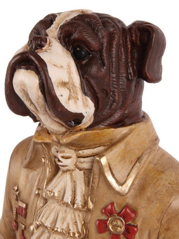 Hond staand 45 cm creme