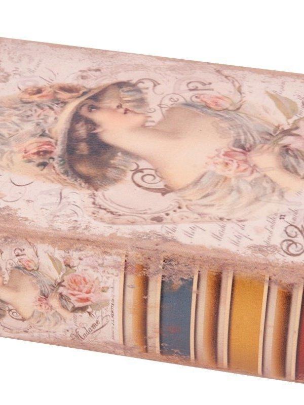 Vintage nep boek  lady 15 cm
