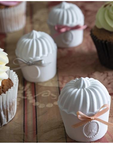 Geschenkset met 3 geparfumeerde cupcakes Marquise