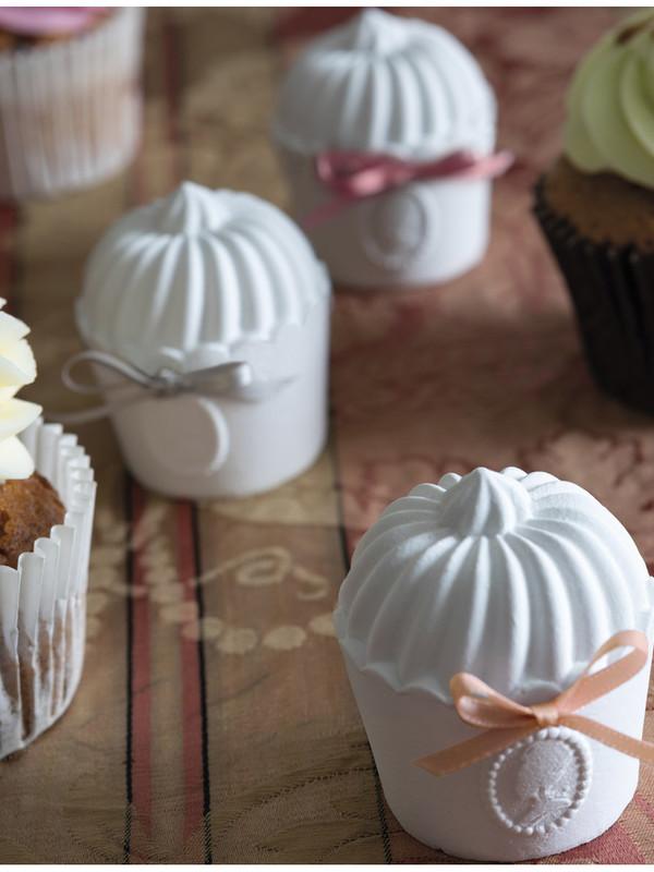 Geschenkset met 3 geparfumeerde cupcakes Divine Marquise