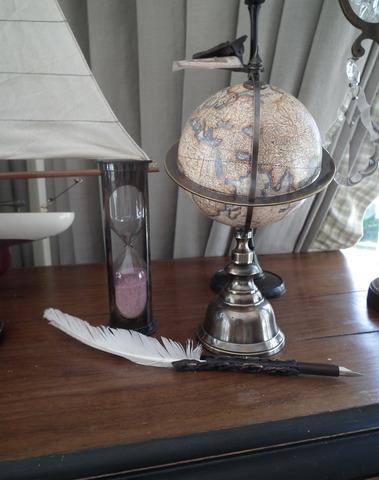 Wereldbol mini terrestrial H 23 cm