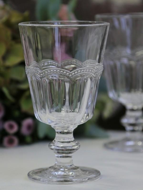Set glazen Antoinette op voet