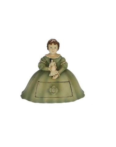 Meisje Sofie met popje en ladekastje