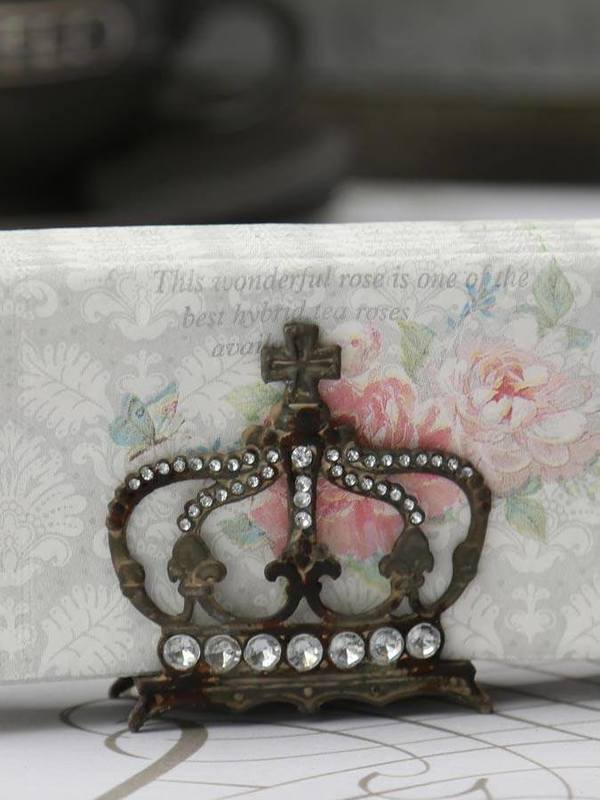 Servieten houder kroon