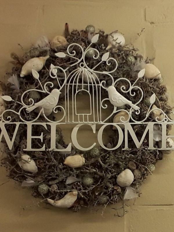 Gelakt ijzeren frame welcome