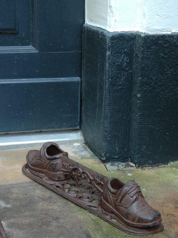 Gietijzeren schoenschraper