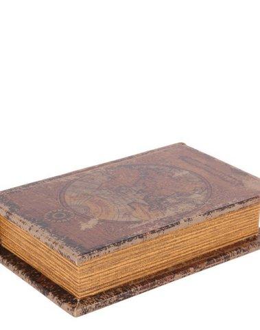 Boekendoos Wereldkaart 15 cm