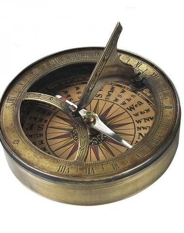 18e eeuws zonnewijzer en kompas