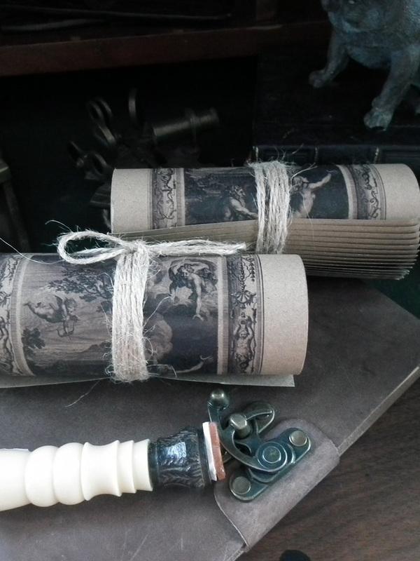 Vintage papierrol klein