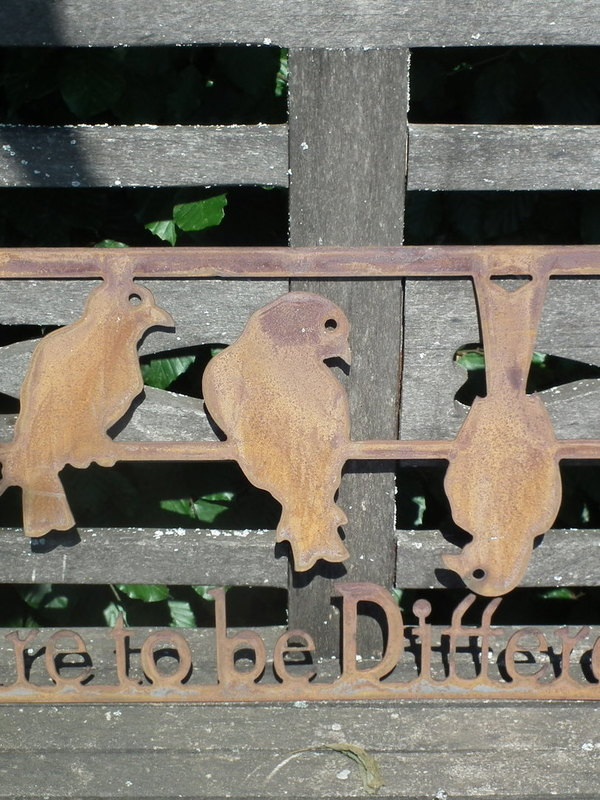 Wandtekst 'dare to be different'