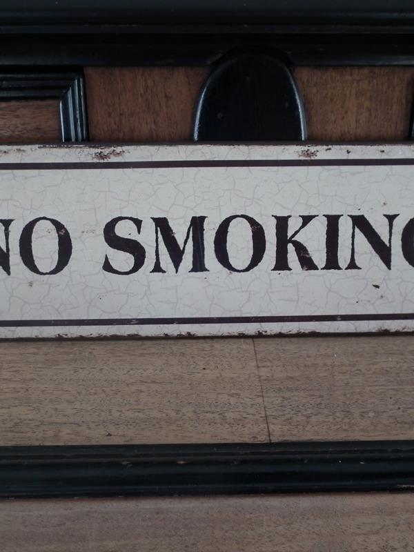 Tekstbord: No smoking