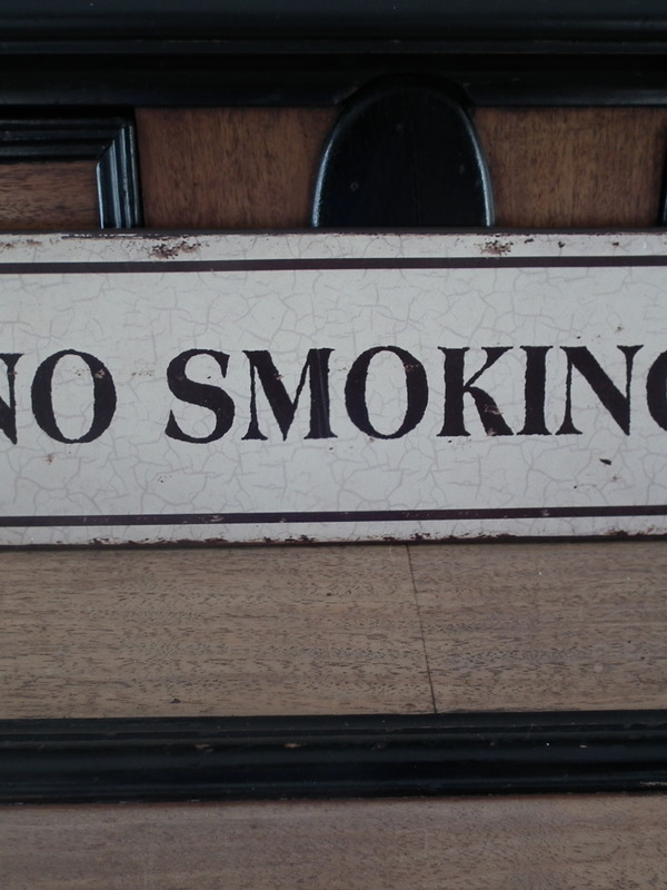 Tekstbord: No smoking