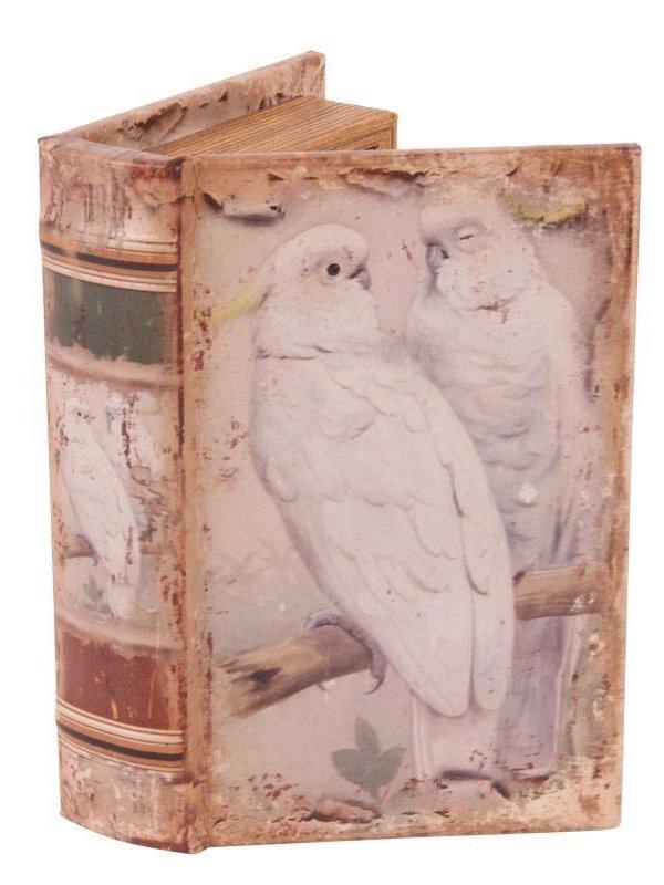 Boekendoos Papegaaien 15 cm