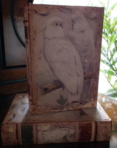 Boekendoos Papegaaien 20 cm