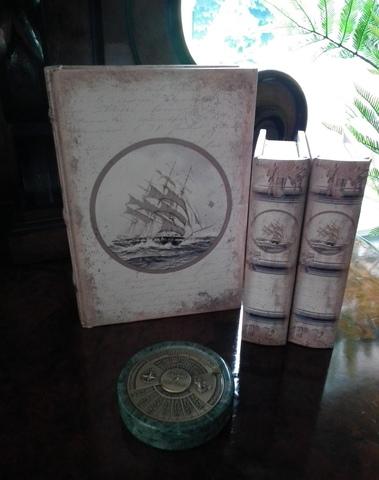 Boekendoos zeilboot 15 cm