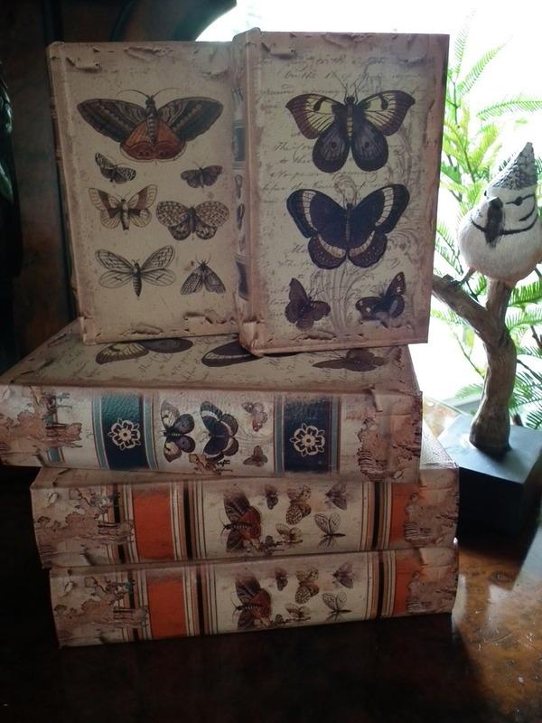 Boekendoos vlinders 15 cm