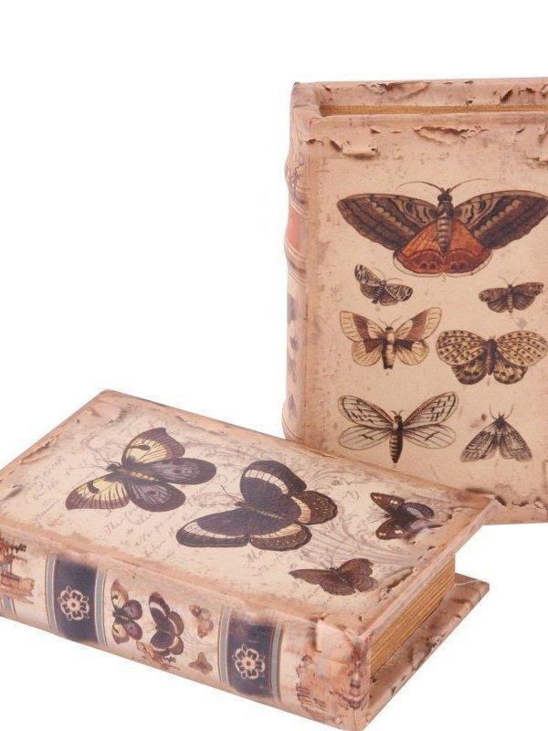 Boekendoos vlinders 20 cm