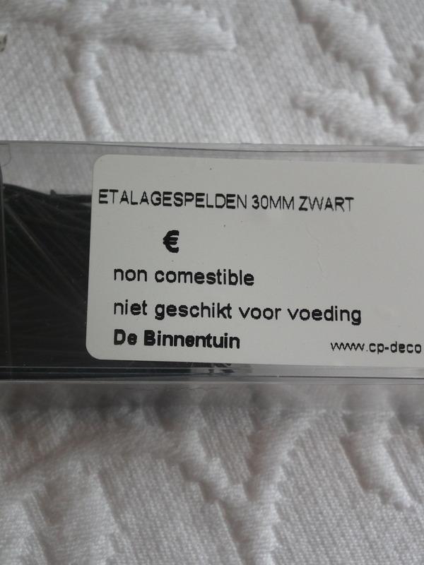 Etalagespelden zwart 30 mm zwart 20 g