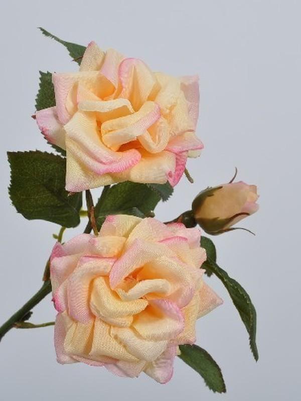 Roos zalm kleurig 35 cm