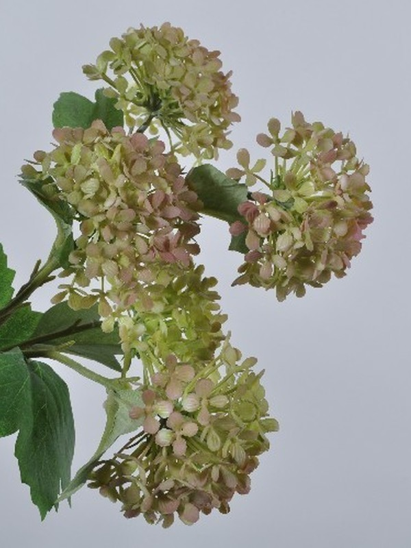 Sneeuwbal groen / zacht roos 53 cm