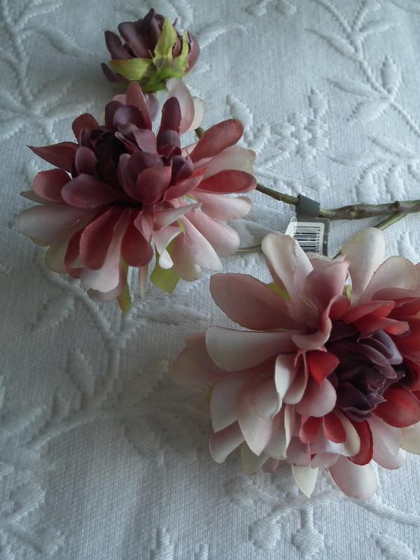 Dahlia roos/rood 33 cm