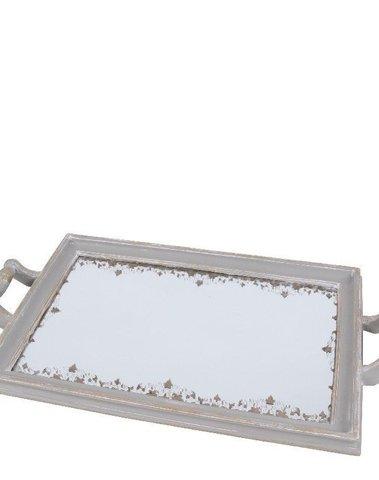 Dienblad met antiek spiegelglas