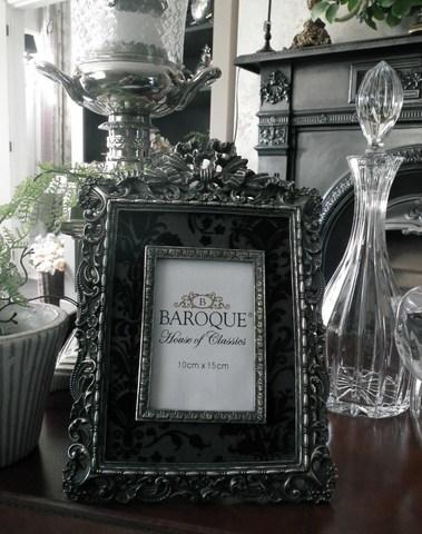 Fotokader Barok antiek zilver 10 cm x 15 cm