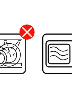 Set van 6 gebloemde porseleinen mokken