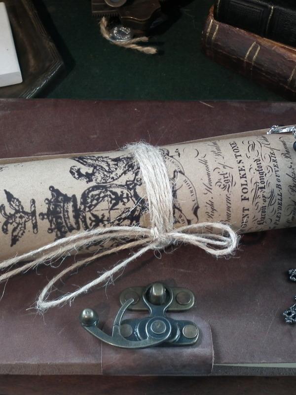 Vintage papierrol middel