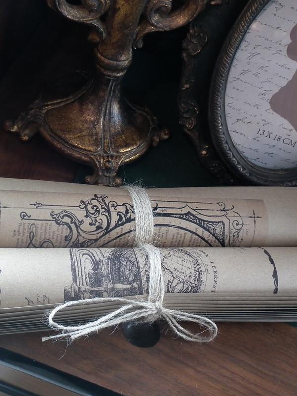 Vintage papierrol groot