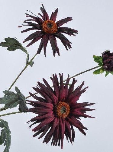 Dahlia bordeaux 77 cm