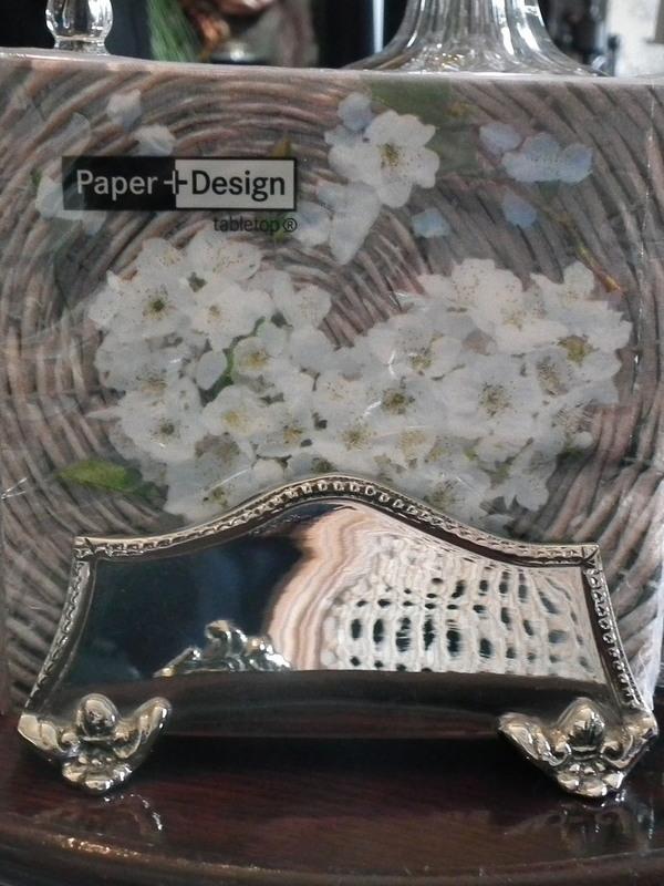Zilveren serviet houder