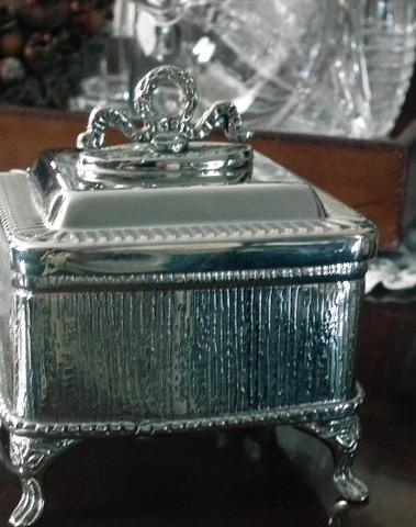 Koekjes of bonbon bewaar pot in zilver