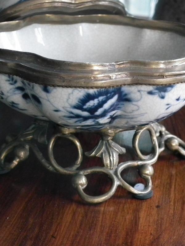 Pot art nouveau Jugendstil met koper