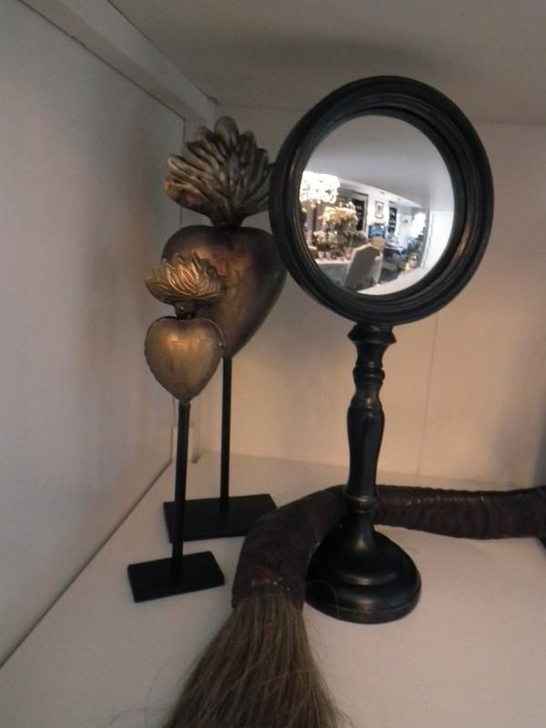 Heksen spiegel op voet H 30 cm