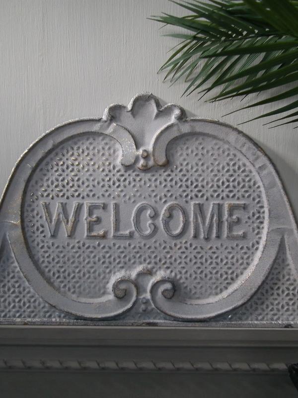 Ijzeren schild Welcome