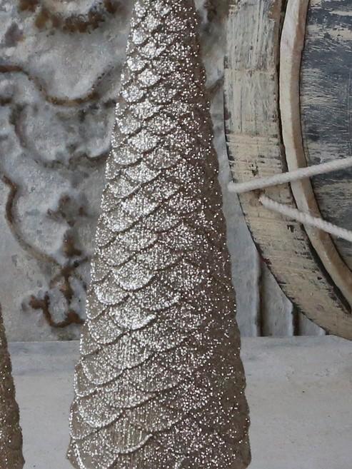 Gouden kerstboom H 35 cm