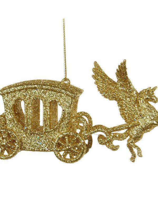 Paard en koets goud