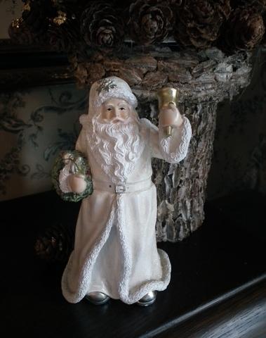 Kerstman met bel crème