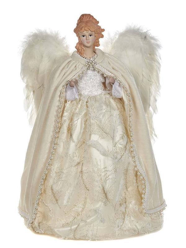 Engel met vleugel ecru H 41 cm