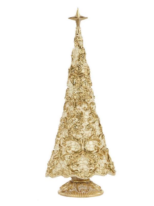 Kerstboom goud & crème 37.5 cm