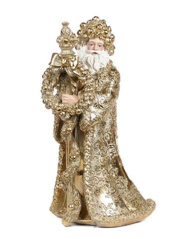 Kerstman goud H 30 cm