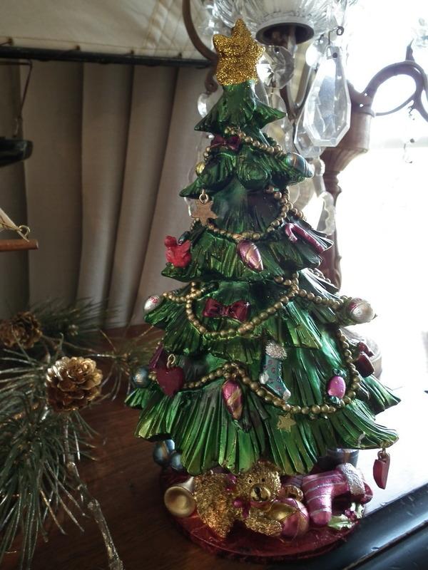 Kerstboom met muziek H 22 cm
