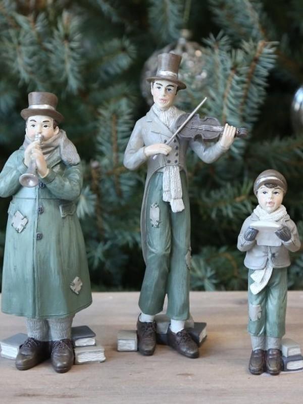 Set 3 kerstmuziekkanten H 18 cm