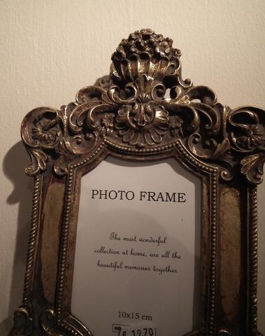 Gouden fotokader 10 x 15 cm enkel om op te hangen