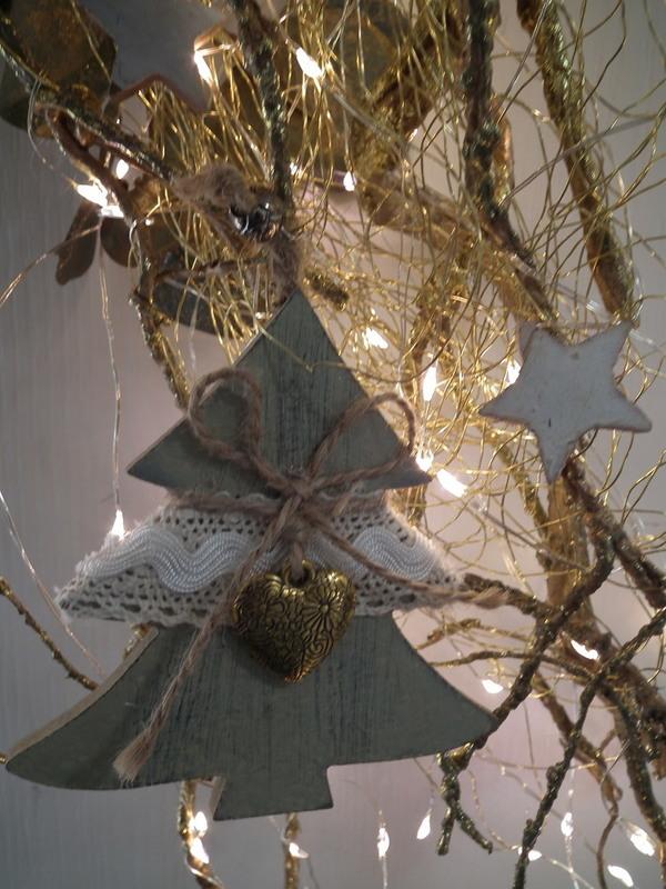 Deur decoratie met verlichting