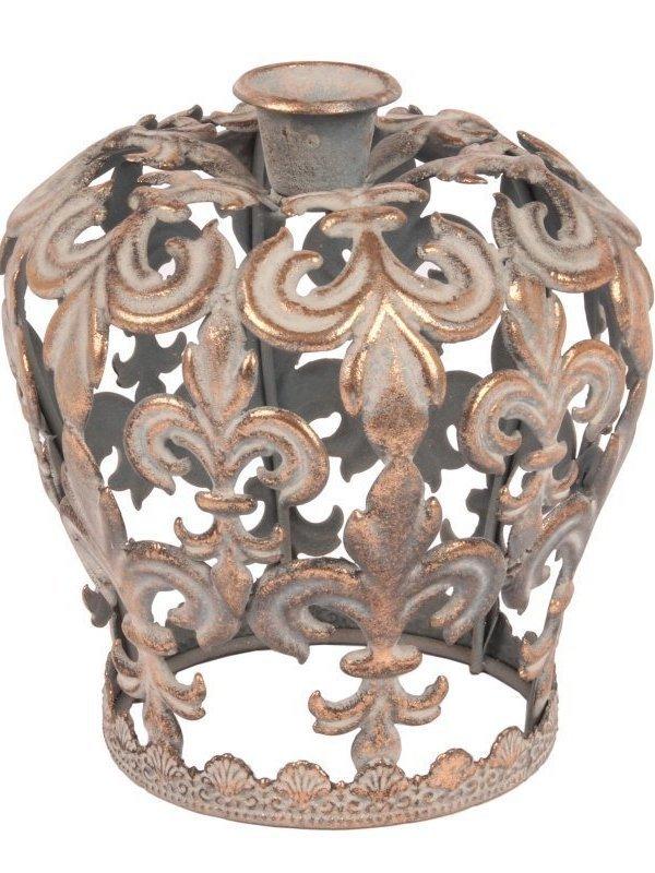 Kroon als kaarsenhouder H 15 cm