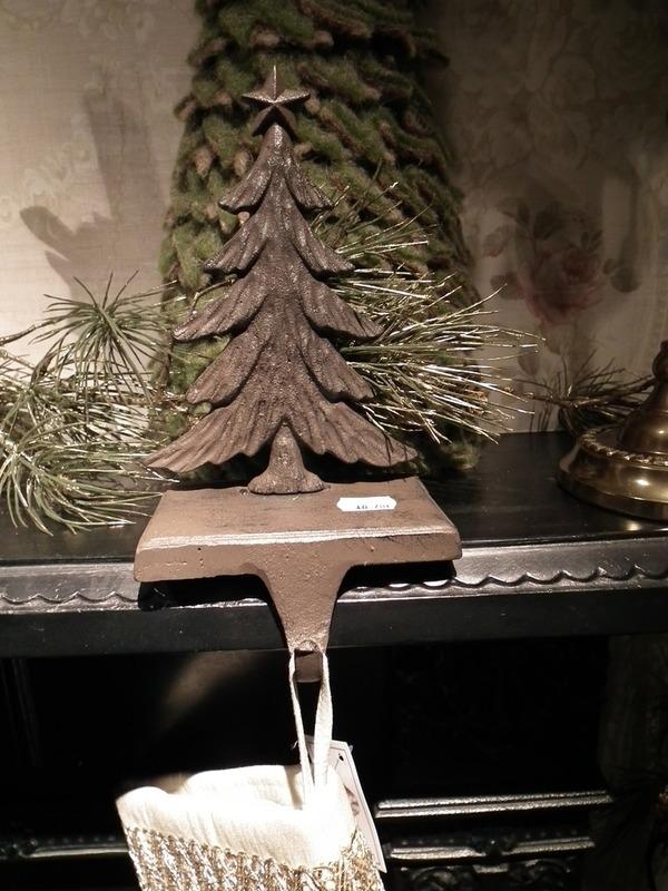 Kerstsokken houder bruin