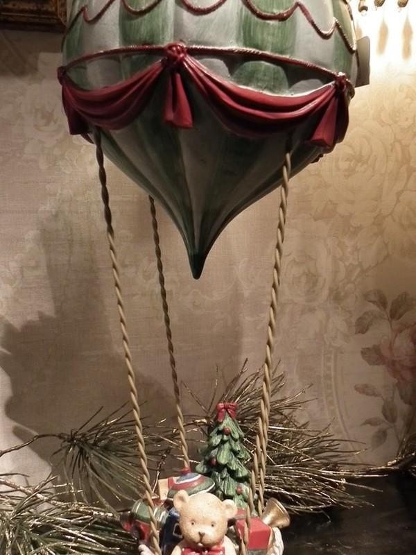 Luchtballon met kerst