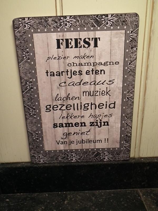 Tekstbord: Feest